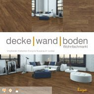dwb Produktinformation VinylBoden Kollektion EcoLine Nussbaum rustikal