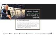 Leistungsportfolio Führungskräftetraining von Dr. Heinz Peter Wallner