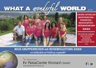 Gruppenreisen 2020 Vorschu Schaffranek Kronach