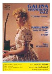 Galina Vale -  LACCS & London Queen Elizabeth Hall