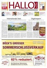 Hallo-Allgäu Kaufbeuren, Ostallgäu vom Samstag, 13.Juli
