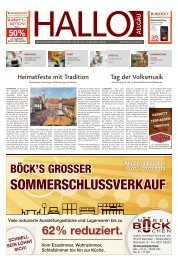 Hallo-Allgäu Memmingen vom Samstag, 13.Juli