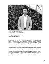 INCODA Management Magazine, Royal Court Issue