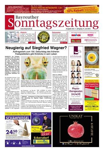 2019-07-14 Bayreuther Sonntagszeitung