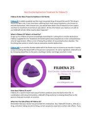 Best Erectile Dysfunction Treatment Options Fildena