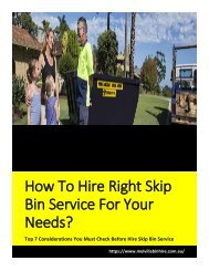 Top 7 Considerations You Must Check Before Hire Skip Bin Service