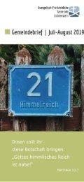 Gemeindebrief 07/08 2019