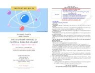 CÁC CHUYÊN ĐỀ HÓA HỌC 10 CHƯƠNG 4 PHẢN ỨNG HÓA HỌC - NGUYỄN VĂN CẢNH