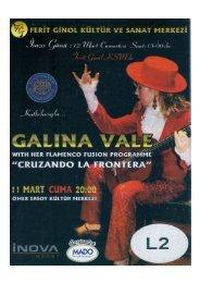 Galina Vale  Recital 2013 - Ferit Ginol Kultur ve Sanat Merkezi