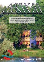 Wijkblad Aakwaa juli/augustus programmagids 2019 2020