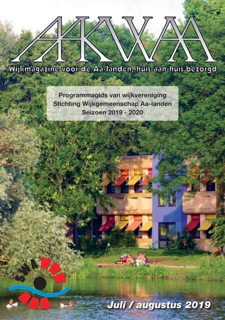 Wijkblad Aakwaa juli/augustus programmagids 2019-2020