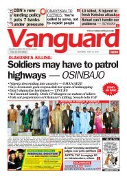 15072019 - Soldiers may have to patrol highways — OSINBAJO