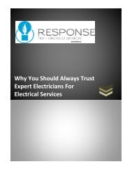 Why You Should Always Trust Expert Electricians For Electrical Services