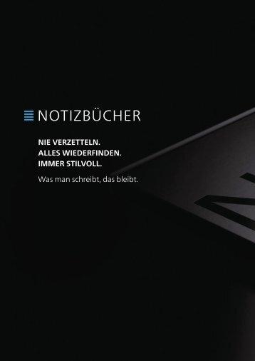 Geiger Notes Notizbücher Werbeartikel