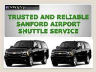 Trusted and Reliable Sanford Airport Shuttle Service
