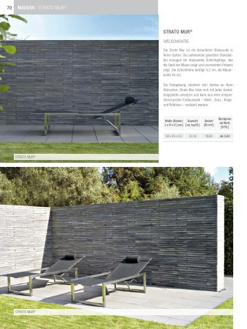 70 Mauern   Strato mur®  Strato Mur® - Lithonplus