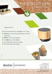 Newsletter 2019 ökologisch & nachhaltig