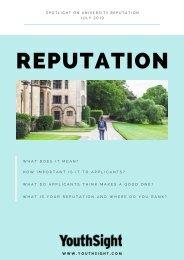 YouthSight HE Report - Spotlight on University Reputation