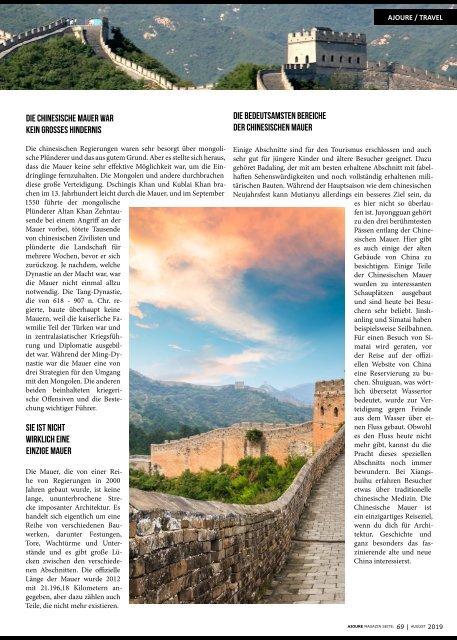 AJOURE´ Magazin August 2019