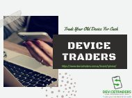 Sell iPhone For Cash Online | Trade In For Cash | Device Traders