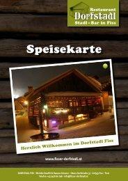Dorfstadl Fiss Speisekarte 2019