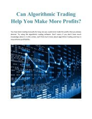 Can Algorithmic Trading Help You Make More Profits?