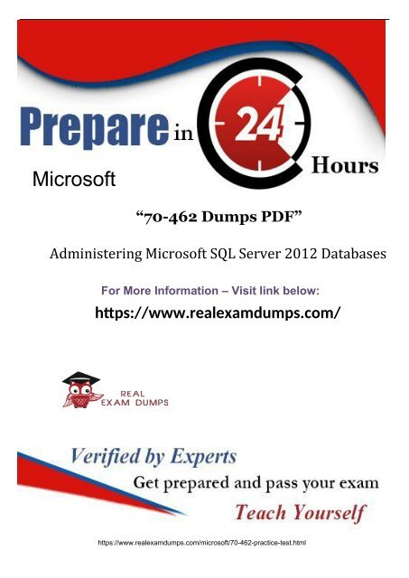 Competent Microsoft 70-462 Exam with Valid 70-462 Dumps Q&A 2019