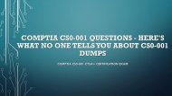 CompTIA CS0-001 Questions - Here's What No One Tells You About CS0-001 Dumps