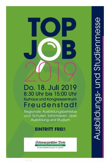TOP JOBS Freudenstadt Juli19