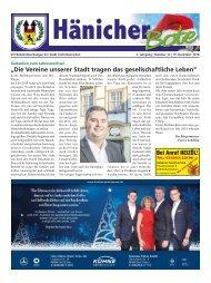 Hänicher Bote | Dezember-Ausgabe 2018