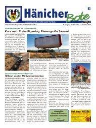 Hänicher Bote | Oktober-Ausgabe 2018