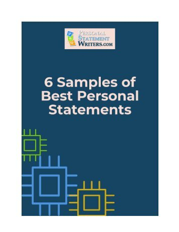 6 Samples of Best Personal Statements