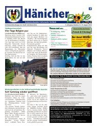 Hänicher Bote | August-Ausgabe 2018