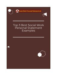 Top 3 Best Social Work Personal Statement Examples
