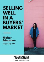 HE Snippet Report - Selling Well in a Buyers' Market