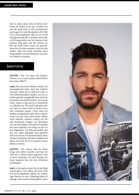AJOURE´ Men Magazin August 2019