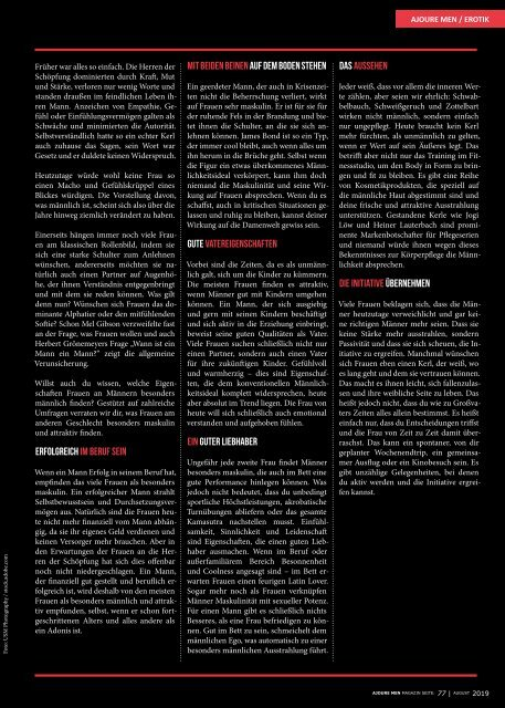 AJOURE´ Men Magazin August 2019