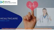 Healthcare Email Lists Healthcare Mailing List