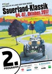 Sauerland Klassik Programmheft 2017