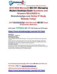 [2019-Version]New Braindump2go MD-101 PDF Dumps Free Share(Q1-Q5)