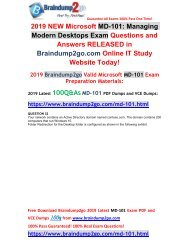 [2019-Version]New Braindump2go MD-101 VCE and MD-101 PDF Dumps Free Share(Q32-Q42)