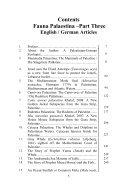 Fauna Palaestina Part 3 Year 2013 by Dr Norman Ali Bassam Khalaf von Jaffa ISBN 978-9950-383-35-7 - Page 6