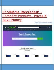 PriceMama – Bangladesh's First Price Comparison Website