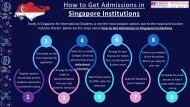 Steps to Get Admissions in Singapore Institutions