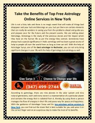 Take the Benefits of Top Free Astrology Online Services in New York