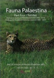 Book Fauna Palaestina 4 Year 2014 By Prof Dr Norman Ali Bassam Khalaf von Jaffa ISBN 978-9950-383-77-7