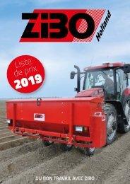 Zibo Prijslijst 2019 - FR