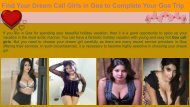 Find Your Dream Call Girls in Goa
