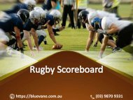 Shop Rugby Scoreboard from Blue Vane at a reasonable Price