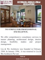 Interior Design Firm Singapore